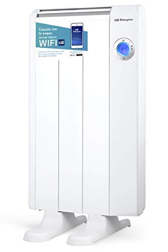 Orbegozo RRW 600 - Emisor térmico bajo consumo Wi-Fi, 600 W, pantalla digital LCD, programable, conexión inalámbrica mediante Orbegozo APP