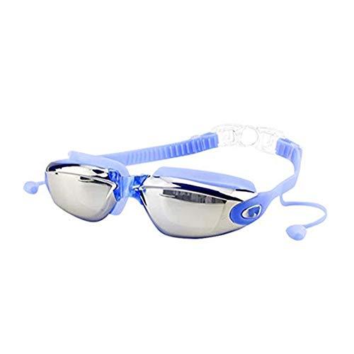 SUCES Schwimmbrille Wasserdicht Unisex, Erwachsene-Schwimmbrille Verspiegelte Taucherbrille Mit Antibeschlag Taucherbrille mit Wasserdichter für Herren &Frauen Mit Ohrstöpsel &Nasenklammer