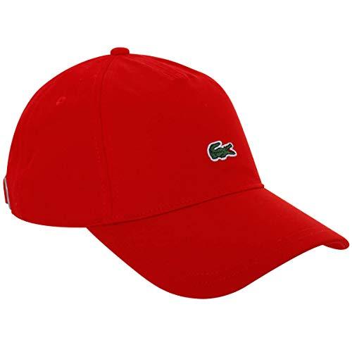Lacoste RK4863 Herren Baseball Cap,Männer Schirmmütze,Baseball Mütze,Kappe,RED(240),One Size (TU)