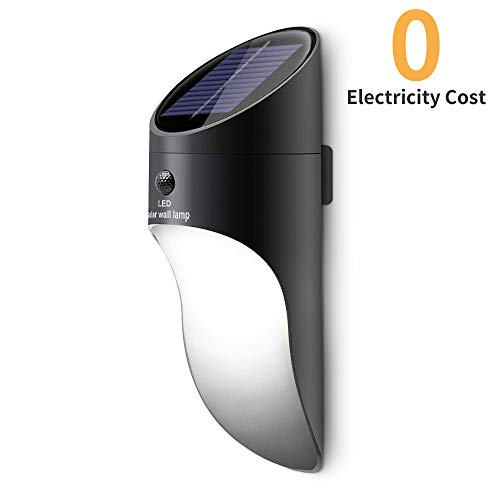 Neporalセンサーライト ソーラーライト 屋外 2輝度壁掛三つ知能モード 人感センサー付き 夜間自動点灯 IP65防水 玄関先/庭/ガーデンライト 防犯ライト 日本語説明書付き(1個セット)