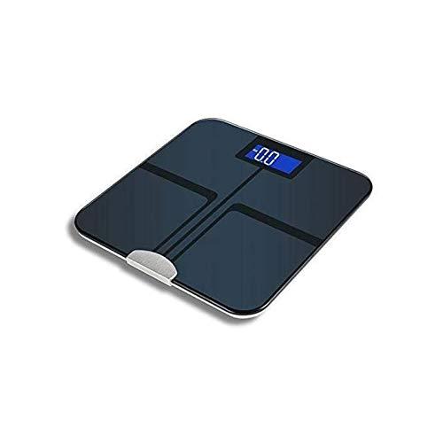 XTZJ Escala de grasa corporal Bluetooth Digital, Báscula de baño con IMC, escala de peso con escala de grasa corporal con 4 sensores de precisión de alta velocidad, vidrio templado resistente a la rot