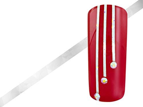Nailart Pinstripes Hologramm silber - Rollen Nail Art Stripes Tape Nagel Zierstreifen Nail Striping Tape Sticker Nageldesign