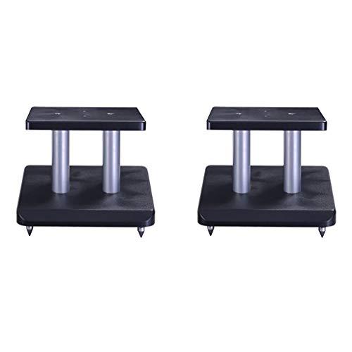 Studio Monitor luidsprekerstandaard 2-delige set, met kabelgeleiding/tapijtpunten, staalconstructie hoogte 25 cm
