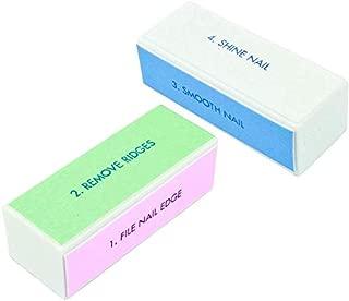 SWEET PEA - SET OF 2 Nail Buffer Block Shiner File 4 sides Nail Art Polisher Manicure Nail File Manicure Nail Decor