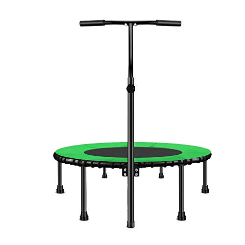 Review Trampoline Xiaomei Mini for Adults Fitness with Safety Pad Indoor Rebounder with Handle Foldi...