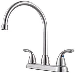 2021 Pfister G136-200S lowest Pfirst Series 2-Handle Kitchen online Faucet in Stainless Steel, 1.8gpm online