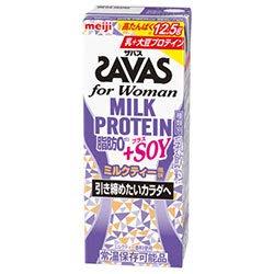明治 (ザバス)for Woman ミルクプロテイン 脂肪ゼロ+SOY ミルクティー風味 200ml紙パック×24本入