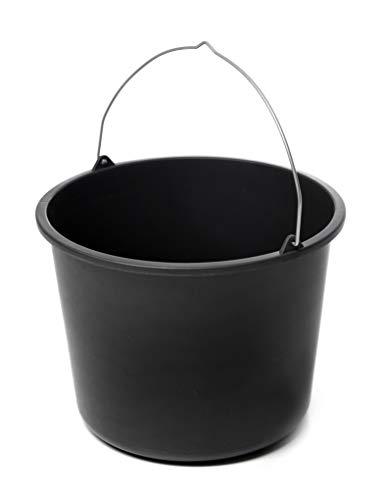 acerto Cubo de limpieza 40534, cubo de mortero, cubo de construcción en negro, 20 litros, plástico (10)