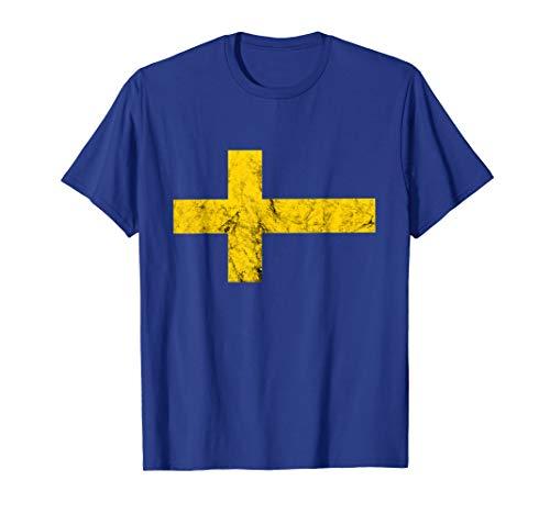 Schweden Fahne Schwedische Flagge Sverige Schwede Kostüm T-Shirt