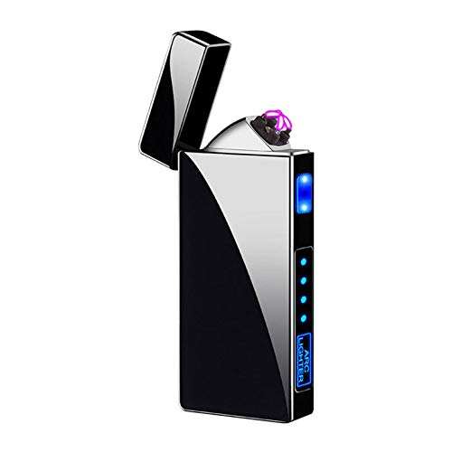Mechero eléctrico con control táctil, USB recargable, plástico antiviento, portátil, cortavientos, doble...