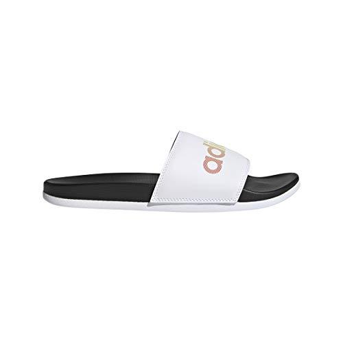 adidas Adilette Comfort, Infradito Unisex-Adulto, Negbás Ftwbla Negbás, 38 EU