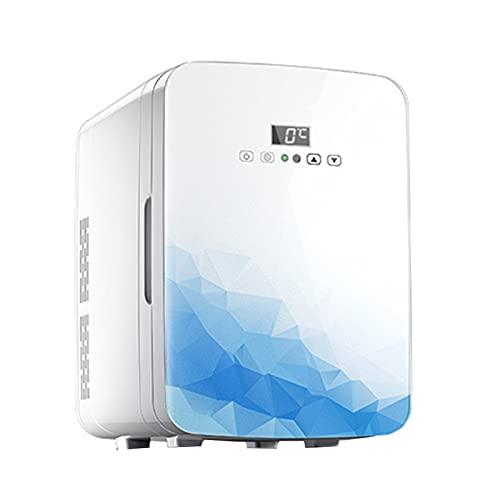 Mini Nevera 20L Mini refrigerador, Temperatura Ajustable portátil Mute Frío y Hot Dual Energy Frigorífico (Color : 110V)