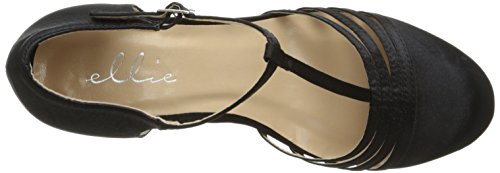 Ellie Shoes Women's 254 Lucille Dress Sandal, Black, 8 M US