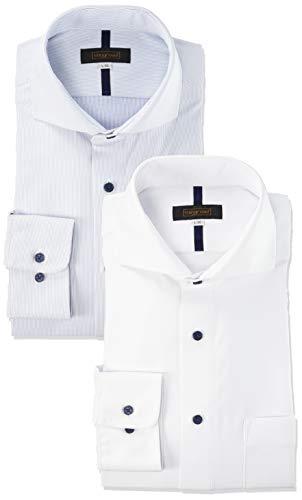 [スティングロード] ワイシャツ 超形態安定 ノーアイロンシャツ 2枚セット ボタンダウン カッタウェイ ニットシャツ クールビズ メンズ C#AC カッタウェイセット 首回り41cm裄丈86cm