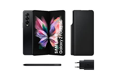 Samsung Galaxy Z Fold3 5G – Teléfono móvil sin tarjeta SIM, Android, Plegable, Smartphone, 256 GB, Negro + Note Pack (Version ES)