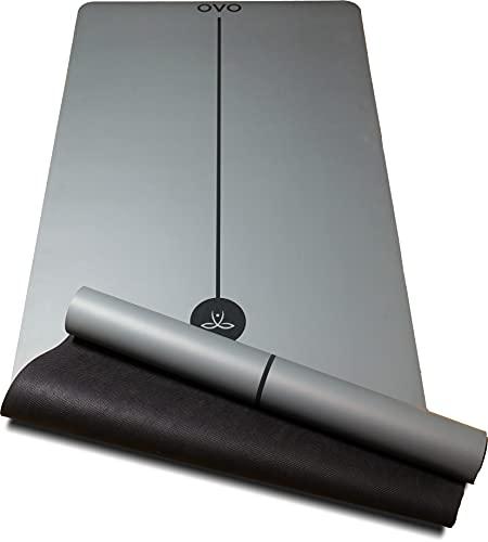 OVO Santulan Yogamatten-Set aus Naturkautschuk, sehr rutschfest, weich, stabil und komfortabel, zertifiziert durch SGS, 183 x 68 cm, ungiftig +...