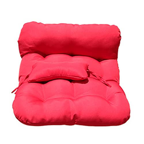 CGDX Cojines para Silla Exterior, Cojines de Columpio Impermeables para Colgar Al Aire Libre Cocoon Egg Hammock Chair Pads con Almohada para La Cabeza, Funda ExtraíBle