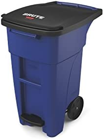 Rubbermaid Commercial 1971993 Brute Step On Rollout Trash Can 95 gal 360 L 46 020 Height 28 product image