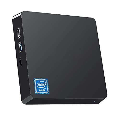 NiPoGi Mini PC, 8GB RAM + 128GB ROM, Windows 10 Pro Intel Atom Z8350, Supporto SSD/HDD da 2.5', Bluetooth 4.2, Dual WiFi 2.4G/5.0G, 1000 Mbps, USB3.0, 4K HD Micro Computer Desktop