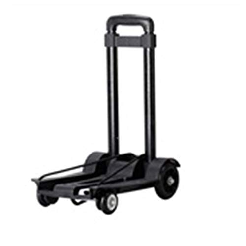 GSHWJS Trolley Household Folding Portable Mute Trolley Car Shopping Cart Luggage Car Retractable Weight Bearing 40kg trolley (Color : A)