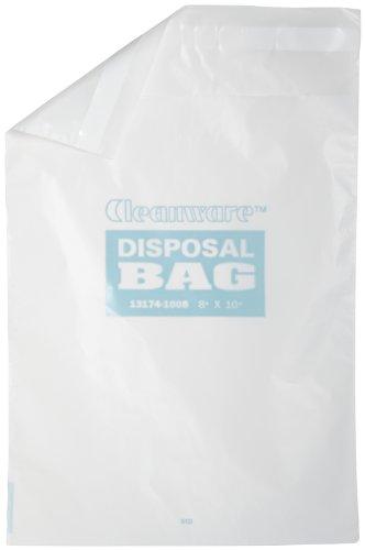 Bel-Art F13174-1008 städartiklar polyetylen vit självhäftande avfallspåsar; rymmer 3 liter, 8 tum. B x 10 tum H, 1,0 mil tjock (paket med 50)
