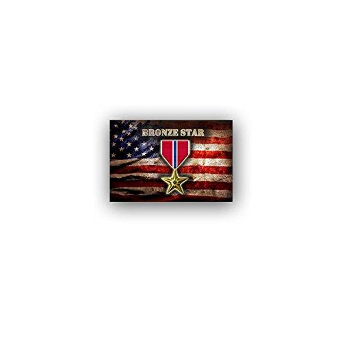 Aufkleber/Sticker -Bronze Star Medal US Army Streitkräfte Orden Military Militär Soldaten Medaille Auszeichnung Verdienst Leistung Abzeichen 11x7cm #A3244