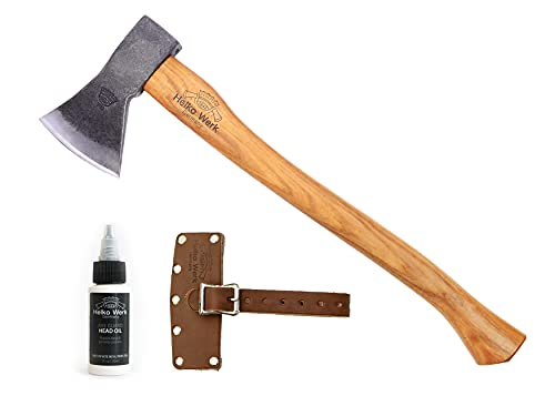 1844 Helko Werk Germany Traditional Rheinland Pack Axe - Small Hand Forged Axe for Bushhcraft Backpacking Camping Hand Axe 11327