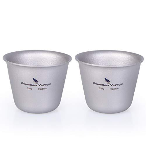 iBasingo Titan Mini Sake Cup Im Freien Camping Picknick Party Whisky Wein Tee Flaschen Trinkbecher Tasse Trinkgefäße