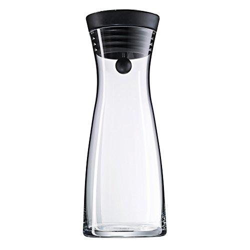 WMF Basic Wasserkaraffe aus Glas 0,75 liter, Glaskaraffe mit Deckel, Silikondeckel, CloseUp-Verschluss