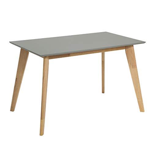Invicta Interior Moderner Esstisch Scandinavia 120cm grau Eiche Scandi Design Konferenztisch Holztisch Küchentisch