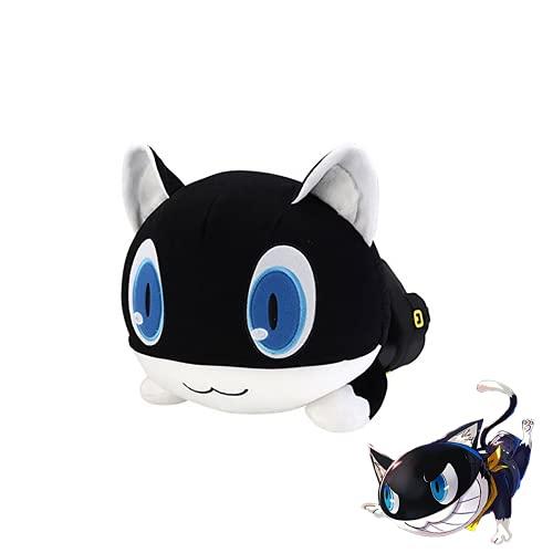 Anime Game per-Sona 5 Juguetes de Peluche,Mona Morgana Cat Nesoberi Q Type Pillow Creative Soft Stuffed Plush Doll Almohadas Regalo de Cumpleaños para Niños Niñas Adultos