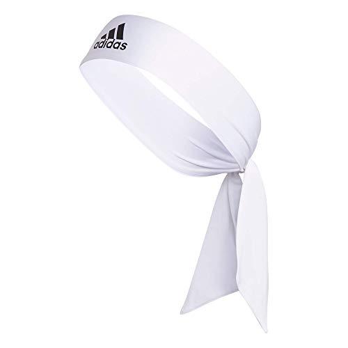 Bandeau Adidas Alphaskin, mixte adulte, Bandeau, Alphaskin Tie Headband, blanc/noir, taille unique