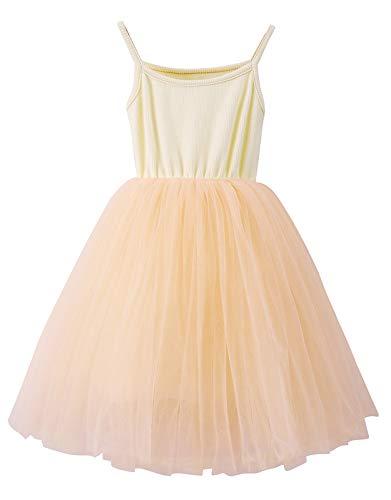 LYXIOF Baby Girls Toddler Tutu Dress Long Sleeve/Sleeveless Princess Infant Tulle Sundress 2T 1-Champagne