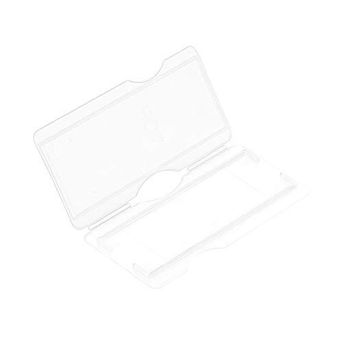 uxcell 1 Place Slide Storage Box ABS Plastic Clear Fit 75x25mm Standard Slides 5Pcs