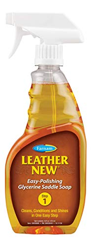 Farnam Leather New 473ml Sattelseife flüssig Glycerin, Leder Reiniger Sprühflasche, Pferde