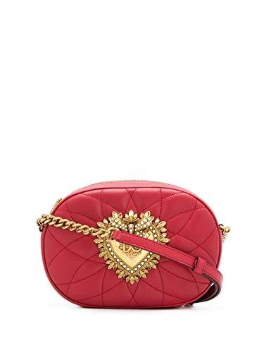 DOLCE E GABBANA Luxury Fashion Damen BB6704AV96787124 Rot Leder Schultertasche | Herbst Winter 19