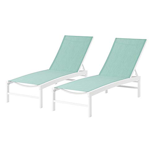 Patio Chaise Lounge Sets Outdoor Aluminum Adjustable...