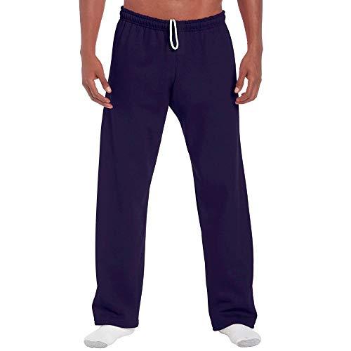 Gildan - Pantalones de chándal de pernera ancha (G184), en mezcla resistente de algodón y poliéster de 226g - Azul - Small