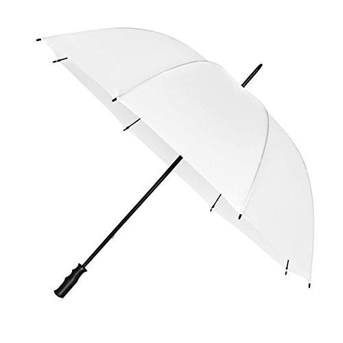 Impliva Paraguas de Golf Resistente al Viento 125 cm Blanco