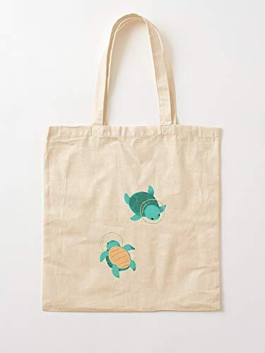 Trendingrb Kawaii Green Stars Turtle Cute   Einkaufstaschen aus Segeltuch mit Griffen, Einkaufstaschen aus nachhaltiger Baumwolle