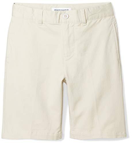 Amazon Essentials Jungen Khaki-Shorts, Beige(Hellkhaki), 7 Jahre Plus