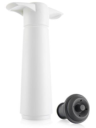 Vacu Vin 0854260-Bomba de vacío con 1 tapón en Blister, Color Blanco