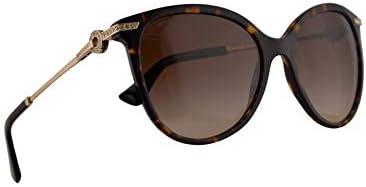 Bvlgari BV8201 B Sunglasses Dark Havana w Brown Gradient 55mm Lens 50413 BV8201B 8201B BV 8201 product image