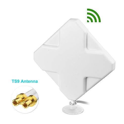 Bingfu High Gain 4G LTE 35dBi Panel MIMO TS9 Antenna for Verizon AT&T MiFi Mobile Hotspot USB Modem Dongle Jetpack AirCard 8800L 7730L AC791L 6620L Netgear LB1120 LB1121 LB2120 Nighthawk M1 MR1100
