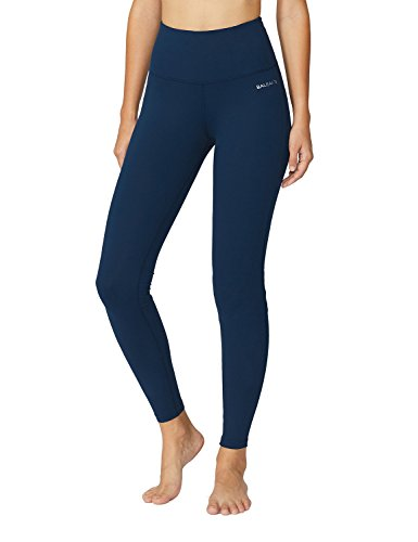 Baleaf Women's High Waist Yoga Pants Non See-Through Fabric Denim Blue Size M
