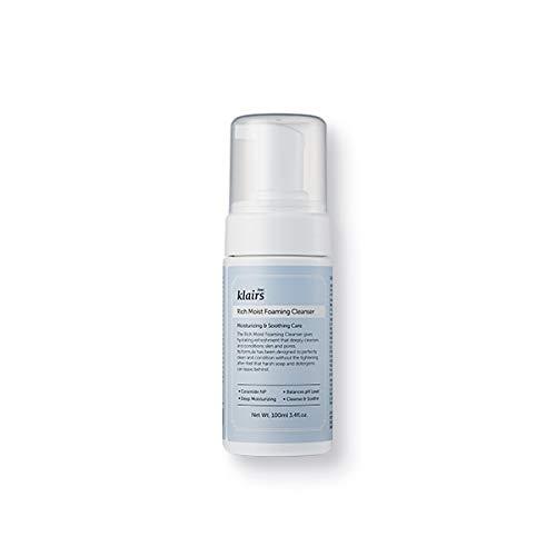 Klairs Rich Foam Cleanser Espuma Limpiadora e Hidratante Facial, 100 Mililitros