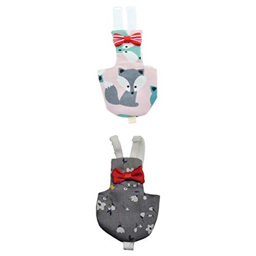 joyMerit 2 Piezas De Tela Transpirable Pañal para Pájaros Pañal Suave Pañal para Pájaros Cubierta Cómoda