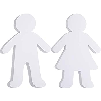 72 Pieces Paper Shapes White Paper Person Cutouts Blank Kid Shaped Cutouts for Art Class Project DIY Craft Supply 5.88 Inch Width 8.8 Inch Height
