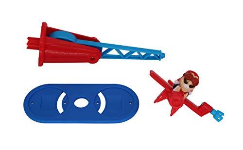 Doppeldecker für Looping Louie Spielarm mit 2 Flugzeugen Tuning Edition 2020 (Adapterplatte + 1x Flieger, Blau)