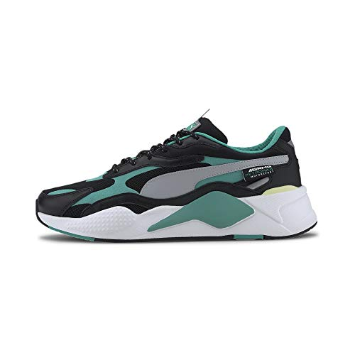 PUMA Mercedes RS-Cube Sneaker Black-Spectra Green-White UK 9_Adults_FR 43
